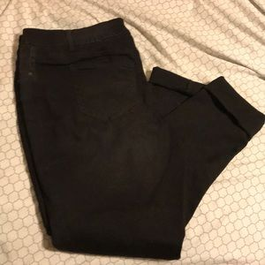 Maurices long size 22 black jeans